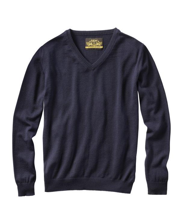 V-Kragen-Pullover VINZENZ blau